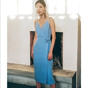 Shop Eye to Eye blue midi dress